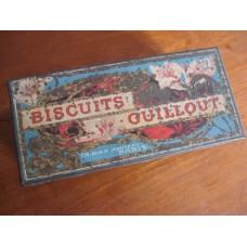 Boite à Biscuits GUILLOUT PARIS tôle lithographiée vers 1900 Art Nouveau