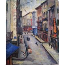 Tableau de Paul ANIMAT 1891-1963 Peintre CASTRAIS Groupe des Monges Enjalbert- Espi -Paul