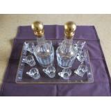 Service à Liqueur cristal de BACCARAT doré à l'or fin XIXème
